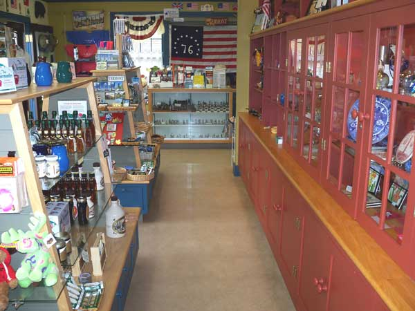 Gift Shop Side Shelf with Items for Sale